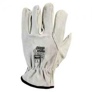 Glove – Leather Rigger ProChoice Riggamate Cowsplit Grey Chrome