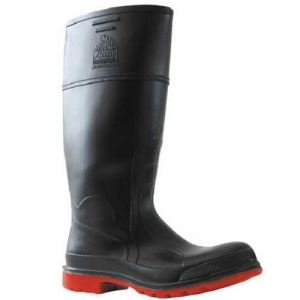 Bata Utility Steel Toe Safety Gumboot – Black/Red