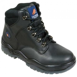 Boot – Safety Mongrel Black Kip Lace-Up DD TPU Sole
