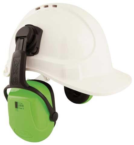 Earmuff – Cap Attach Unisafe Zone 2 (CL 5 – 28dB) – HI VIS Lime