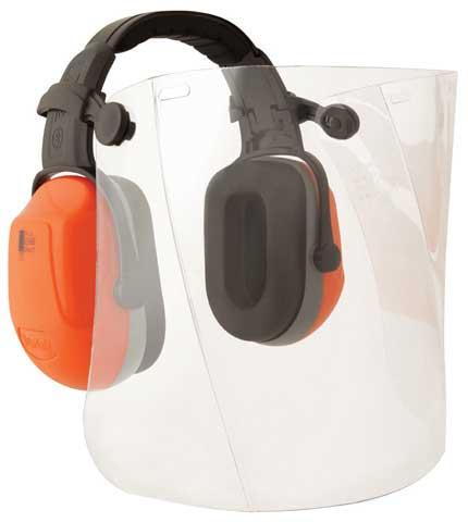 Earmuff Visor Kit – Headband Unisafe Zone 2 NG (CL5 – 29dB) c/w Poly Visor